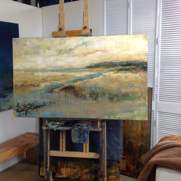 "Cohen commission 36"" x 60"" based on a photo supplied by the client of their view from a vacation home in Mass."